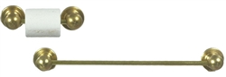 Towel Bar and Toilet Paper holder Brass 65650