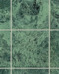 "Nile Green No Wax Marble 1"" square vinyl flooring sheets"