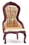 Victorian Gent's Chair in Floral Print