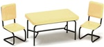 5944 40's Kitchen table set-yellow