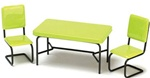 5947 40's Kitchen table set-green