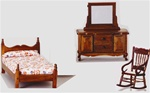 Walnut Twin Bed room set