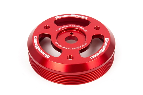 Grimmspeed Lightweight Crank Pulley Red - Subaru All FA/FB Engines