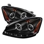 Spyder Auto Nissan Altima 2002-2004 LED Halo Projector Headlights (Halogen Model Only) 5008077