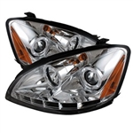 Spyder Auto Nissan Altima 2002-2004 LED Halo Projector Headlights (Halogen Model Only) 5008251