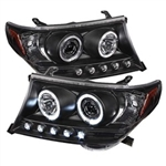 Spyder Auto Toyota Land Cruiser 2008-2011 LED Halo Projector Headlights 5008275