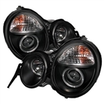 Spyder Auto Mercedes-Benz E300 1995-1999 LED Halo Projector Headlights 5011275