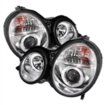 Spyder Auto Mercedes-Benz E320 2000-2002 LED Halo Projector Headlights 5011305