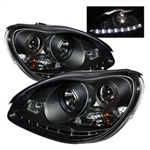 Spyder Auto Mercedes-Benz S430 2000-2006 DRL Projector Headlights (Halogen Model Only) 5011312