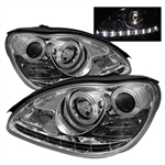 Spyder Auto Mercedes-Benz S430 2000-2006 DRL Projector Headlights (Halogen Model Only) 5011329