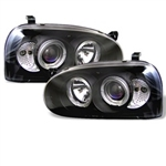 Spyder Auto Volkswagen Golf 1993-1998 LED Halo Projector Headlights 5012135