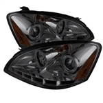 Spyder Auto Nissan Altima 2002-2004 LED Halo Projector Headlights (Halogen Model Only) 5014849