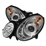 Spyder Auto Mercedes-Benz E320 2003-2006 DRL Projector Headlights (Halogen Model Only) 5017499