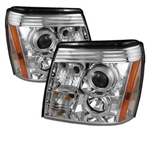 Spyder Auto Cadillac Escalade 2002-2006 LED Halo DRL Headlights (Halogen Model Only) 5037930