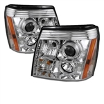 Spyder Auto Cadillac Escalade 2002-2006 LED Halo DRL Headlights (Xenon/HID Model Only) 5042279
