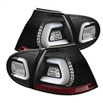 Spyder Auto Volkswagen Golf 2006-2009 LED Tail Lights w/ LED Turn Signal 5073792