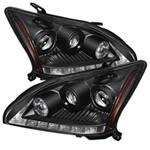 Spyder Auto Lexus RX330 2004-2006 DRL LED Projector Headlights (Halogen Model Only) 5076779