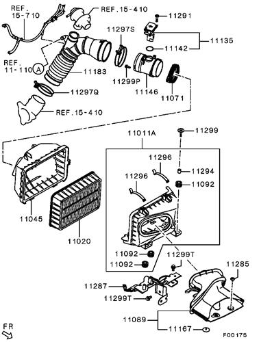 Mitsubishi OEM Air Flow Sensor