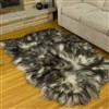 Icelandic White w Black Dyed Tips Quad Rug