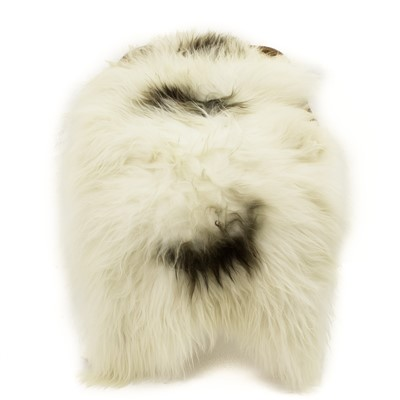 Sheepskin Rug Ivory White with Spots