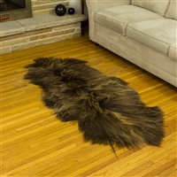 Sheepskin Rug Blonde Brown Double End-End