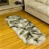 Sheepskin Rug White w Dyed Black Tips Double End-End