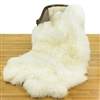 Large Quad Ivory White Sheepskin Rug