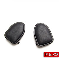 Pair of Font Roof Latch Handle Filler Caps GM Part no. 10267173 - SMC Performance and Auto Parts
