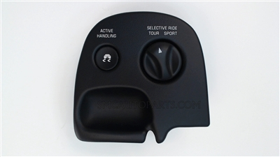Ebony Electronic Control Suspension Switch for a 2003-2004 Chevrolet C5 Corvette with the F55 and C88 Options - SMC Performance and Auto Parts
