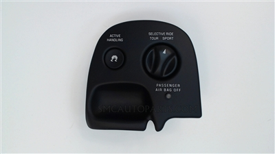 Black Electronic Suspension Control Switch for a 2003-2004 Chevrolet C5 Corvette F55 - SMC Performance and Auto Parts