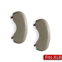 Pair of Sunshade/Sunvisor Retainer Hole Covers in Medium Dark Neutral (15I) GM Part no. 10347793 - SMC Performance and Auto Parts