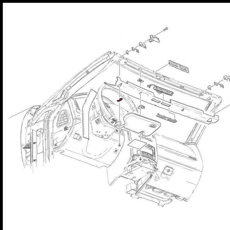 Sunvisor Retainer Hole Covers In Medium Dark