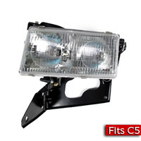 Driver Side (LH) Headlamp Assembly with Actuator Motor - USA/North America Factory Part nos. 19177350, 10351403 - SMC Performance and Auto Parts