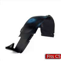 Driver Side Rear Wheelhouse Liner with Z06 Brake Duct Cut Out Factory Part no. 10424682 - SMC Performance and Auto Parts