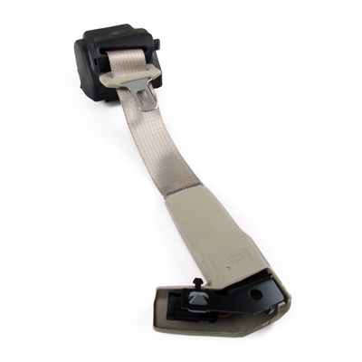 Shale Passenger Side Seat Belt with Retractor and Black Lower Trim Ring Factory Part nos. 15846946, 19149857, 89026705 - SMC Performance and Auto Parts