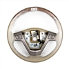 Steering wheel, Light Cashmere with Natural Olive Ash Burlwood - SMC Performance and Auto Parts