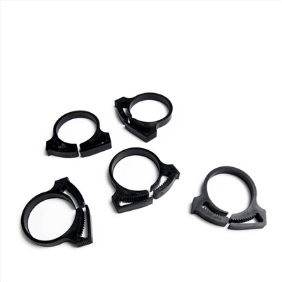 Set of 5 Secondary Air Injection Hose Clamps (AIR) 23mm - 25mm Clamped ID. Factory Part no. 01623010 - SMC Performance and Auto Parts