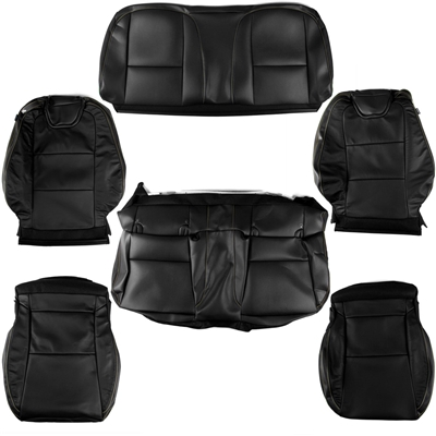 Complete Seat Cover kit for a 2012 Chevrolet Camaro Transformers Edition with the AMM, AY0, EAL, KA1, 01A, CTH, and AKQ Options - SMC Performance and Auto Parts