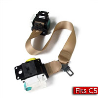Oak Coupe Seat Belt with Shoulder Retractor Part no. 88956040, 88955164 - SMC Performance and Auto Parts