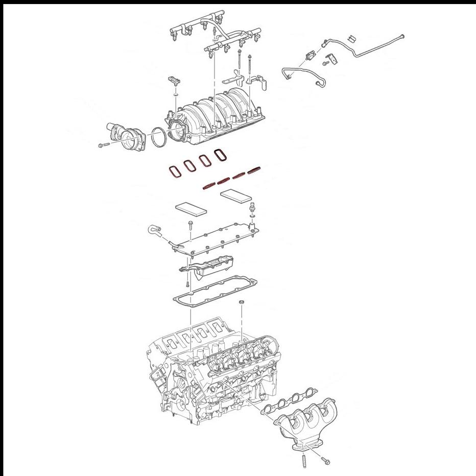 intake manifold to cylinder head gasket kits for ls7 7 0l engine intake