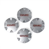 "Set of 4 Wheel Center Caps for 18"" 6 Spoke Metallic Silver Painted Aluminum Wheels GM Part no. 9597570 - SMC Performance and Auto Parts"