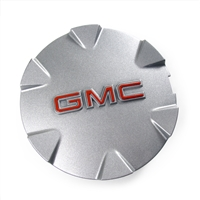 "Wheel Center Cap for 18"" 6 Spoke Metallic Silver Painted Aluminum Wheels GM Part no. 9597570 - SMC Performance and Auto Parts"