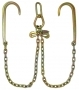 "<h3>Low Profile V-Chain 2ft Legs w/ 15"" J-hooks</h3>"