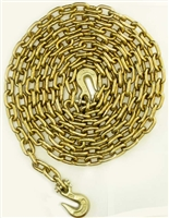"<h3>1/2"" grade 70 Chain- 20ft w/ grab hooks on end</h3>"