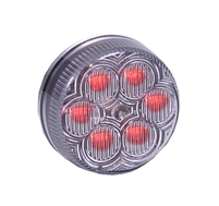"<h3> 2"" Round RED Clear  Marker Light</h3>"