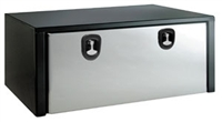 <h3> 18x18x48 Black Tool Box W/ Stainless Steel Door</h3>