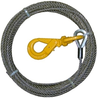 "<h3>3/8"" x 55Ft Fiber Core W/ Self Locking Swivel Hook</h3>"