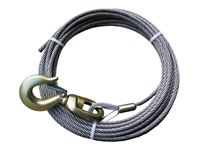 "<h3>3/8"" x 55Ft Steel Core w/ 3 Ton Swivel Hook & Latch</h3>"