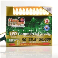 "LED C6 Warm White 6"" Spacing (12 qty) - Retail Box"