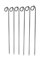 "36"" Curly-Q Metal Yard Stake - Set of 6"